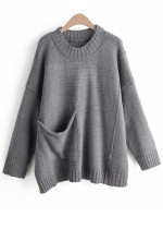 Patch Pocket Detail Sweater ( in 3 Colors )