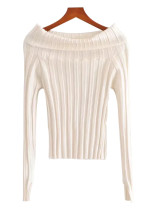 Off Shoulder Sweater in White