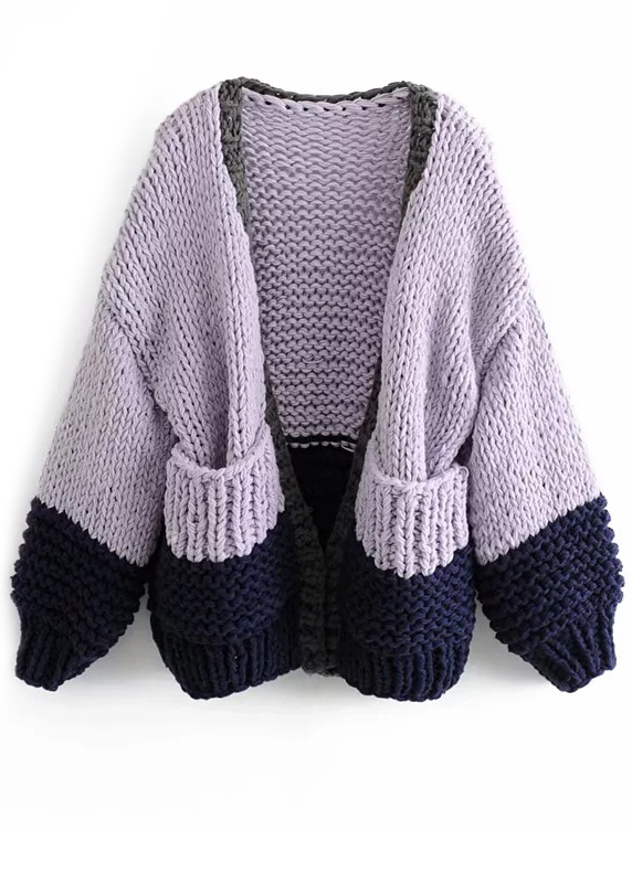 Pockets Detail Knit Cardigan ( in 2 Colors )