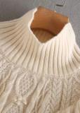 Balloon Sleeves Sweater in Beige