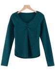 Long Sleeves Knit Top ( in 5 Colors )