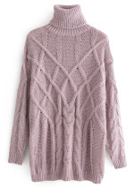 Turtleneck Sweater in Mauve