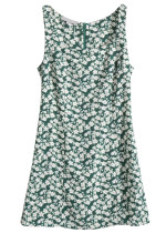Tank Dress in Green Floral