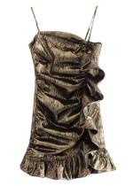 Metallic Thread Slip Dress