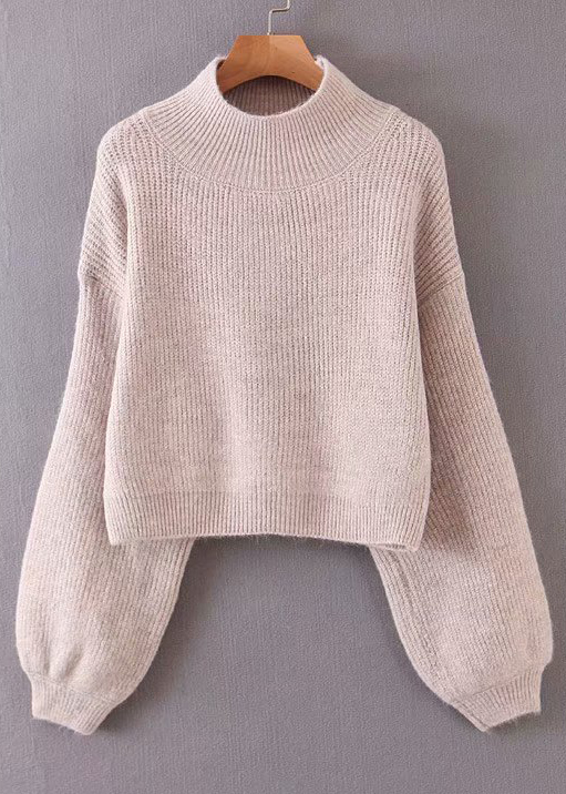 Mock Neck Crop Sweater ( in 3 Colors )
