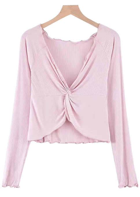 Front Knot Knit Top ( in 4 Colors )