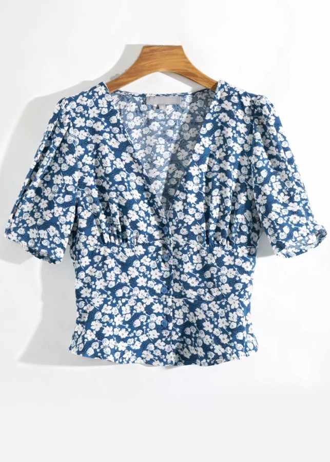 Blouse in Navy Floral