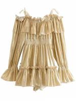 Metallic Thread Detail Dress