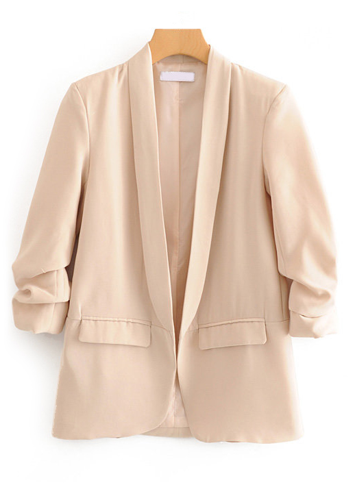 Gathered Sleeves Blazer ( in 3 Colors )