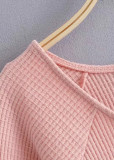 Drawstring Front Knit Top ( in 2 Colors )