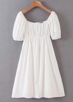 Short Dress in White