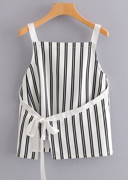 Wrap Front Striped Top
