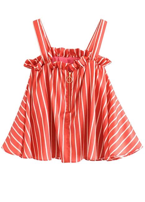 Cami Top in Red Stripe