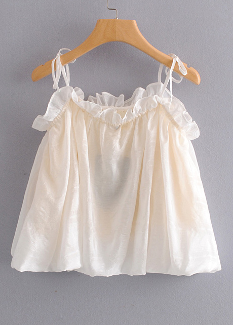 Frill Detail Cami Top ( in 2 Colors )