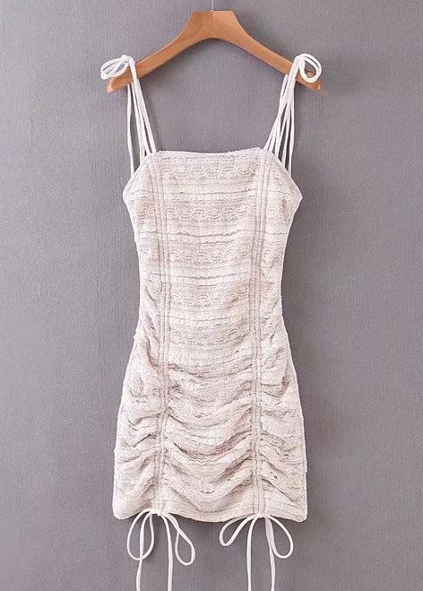 Lace Bodycon Dress in Beige