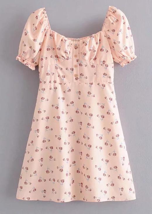 Short Dress in Blush Floral