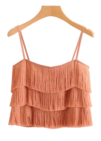 Fringed Cami Top ( in 2 Colors )