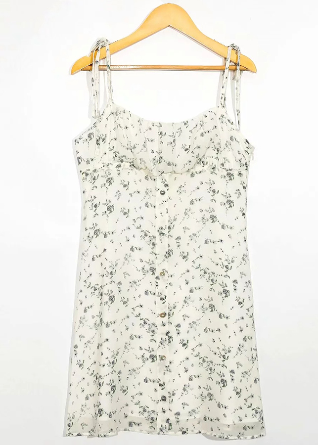 Mini Dress in Cream Floral