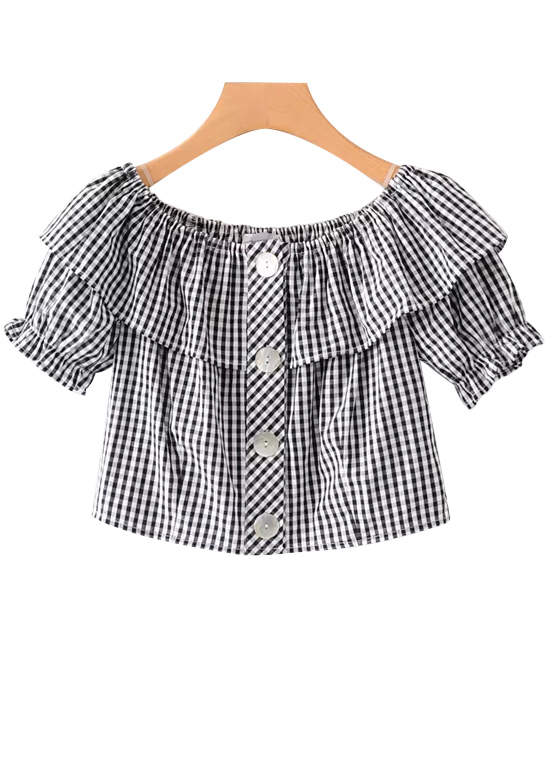 Off Shoulder Top in Gingham