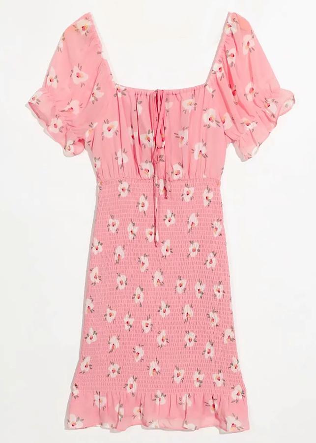 Smock Dress in Blush Floral