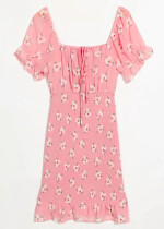 Smock Dress in Blush Floral