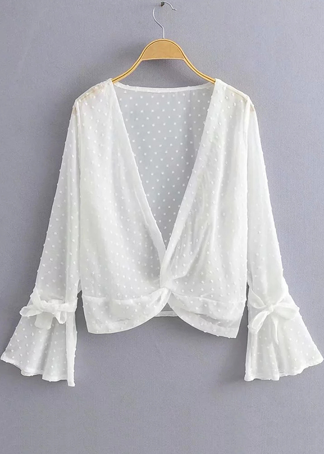 Bell Sleeve Blouse in White