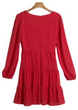 Long Sleeve Short Dress ( in 2 Colors )