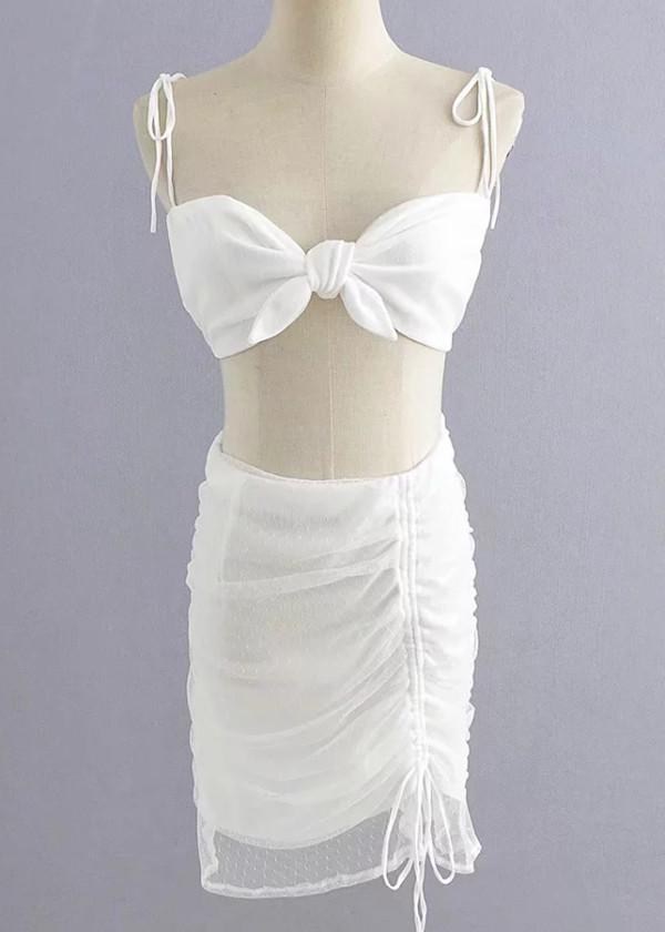 Sheer Mesh Set ( Top & Skirt )