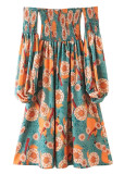 Off Shoulder Floral Dress