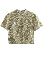 Top in Green Floral