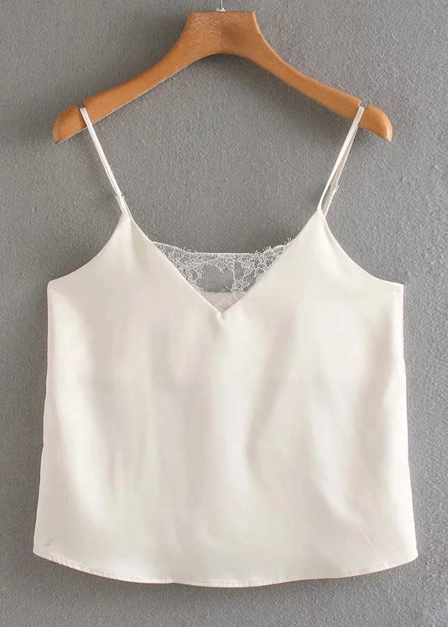 Lace Detail Cami Top in Cream