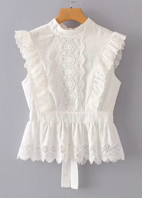 Backless Lace Top in White