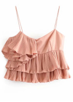 Pleated Top in Blush