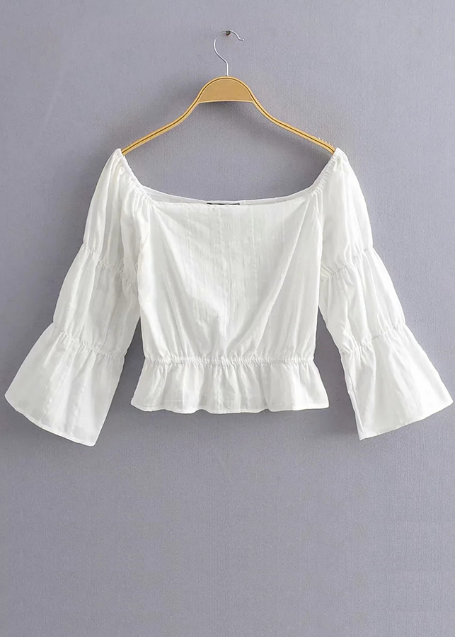 Off Shoulder Blouse in White