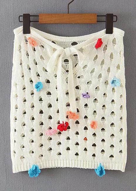 Knit Skirt in Cream