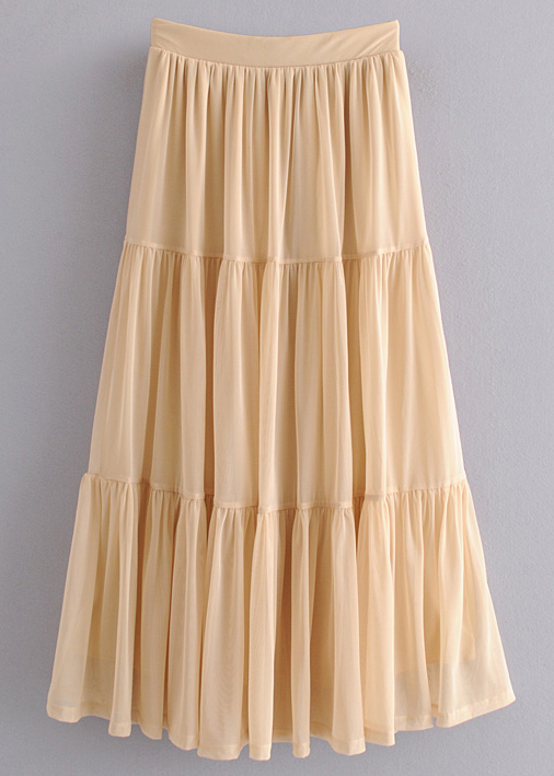 Sheer Mesh Skirt
