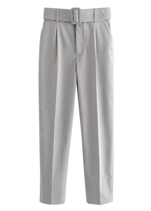 High Waist Pants in Gray