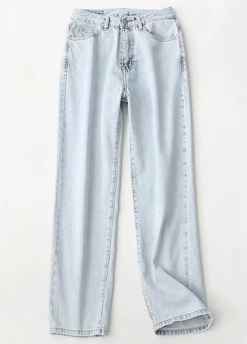 High Waist Straight Jeans ( in 2 Colors )