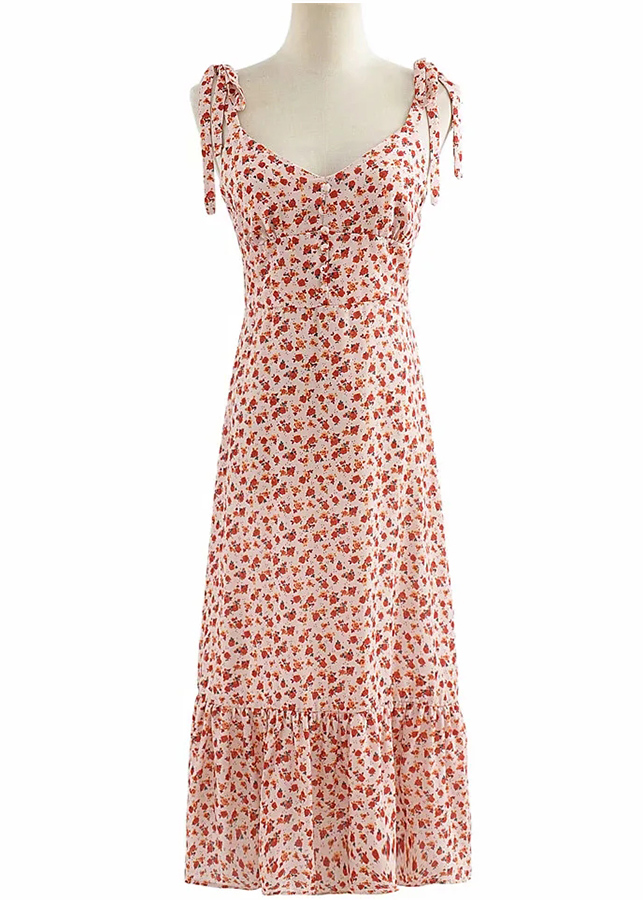Dot Print Wrap DressFloral Maxi Dress
