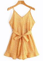 Mini Dress in Yellow Spot
