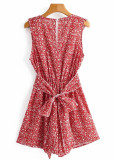 Romper in Red Floral