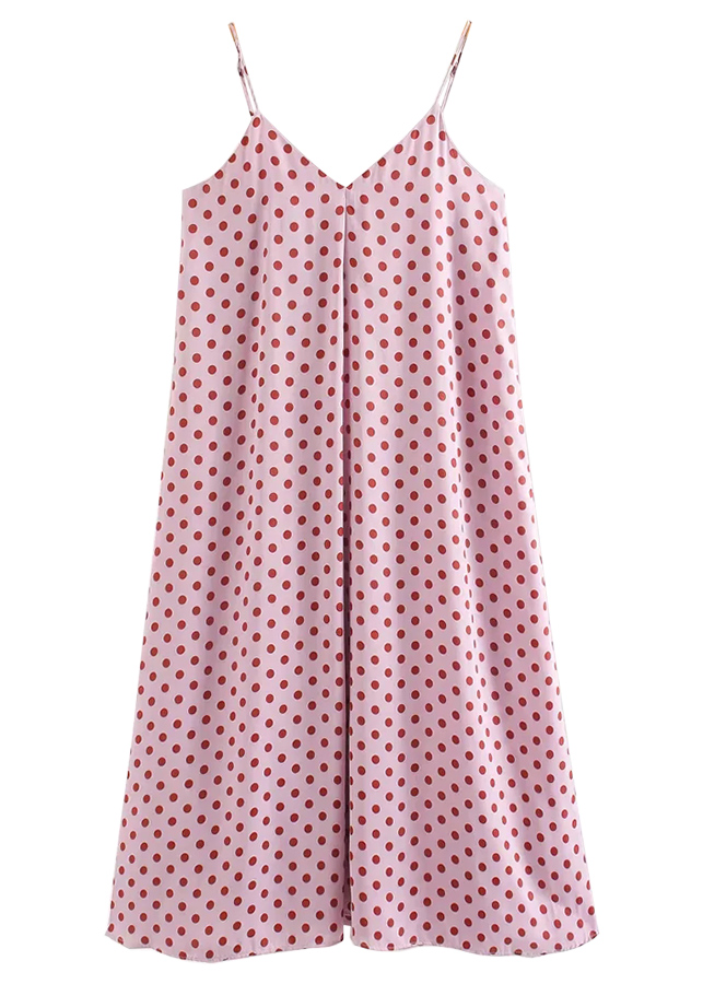 Maxi Dress in Pink Dot