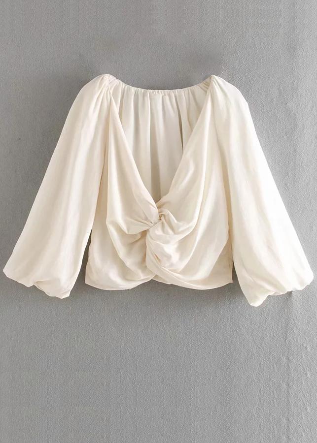 Balloon Sleeve Blouse in Cream
