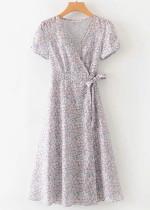 Wrap Floral Maxi Dress
