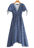 Maxi Dress in Navy Floral