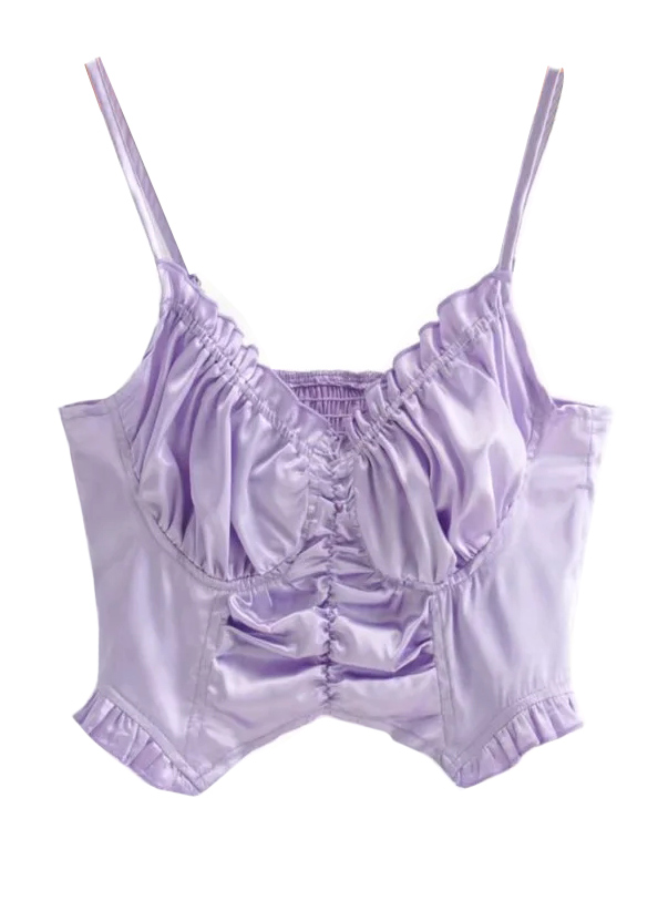 Ruffle Detail Top in Lavender