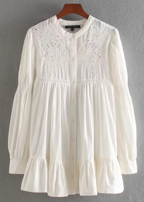 Embroidered Blouse in Cream