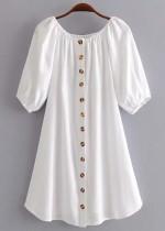 Off Shoulder Short Dress ( in 2 Colors )