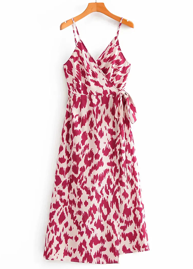 Wrap Maxi Dress in Cream Floral