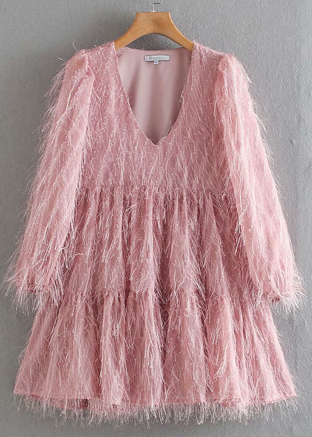 Fringed Dress ( in 3 Colors )